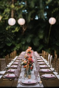 reception table scape